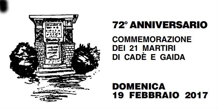 2017_72°anniversario di commemorazione dei 21 Martiri di Cadè e Gaida