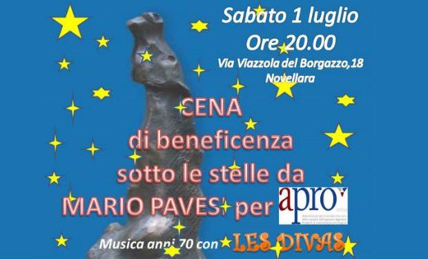 Cena di beneficenza sotto le stelle da Mario Pavesi